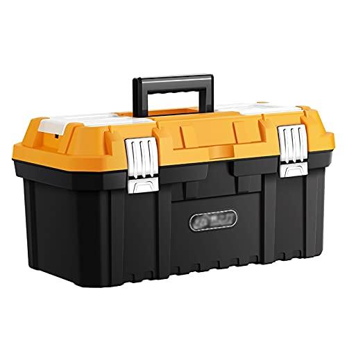 caja de herramientas La caja de herramientas con la manija y...