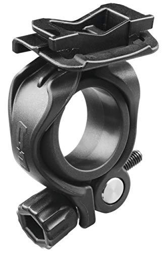 Busch & Müller Scheinwerferhalter für Ixon Core neu Halter mit Adapterplatte für Ø21-32mm, schwarz (1 Stück)