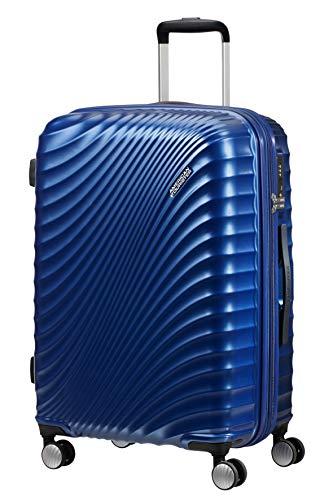 American Tourister Jetglam Spinner M Espandibile Valigia, 67 cm, 77.5 litri, Blu (Metallic Blue)