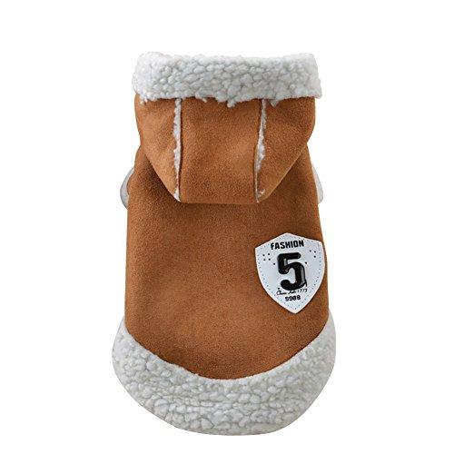 Wodery veste de chien manteau pour animaux de compagnie chats vêtements d'hiver chiot robe vêtements d'hiver vêtements chauds manteau pull chiot chaud, XS/S/M/L/XL