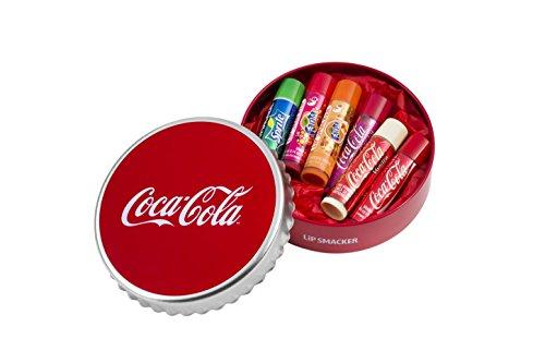 Lip Smacker – Estuche Metal con 6 Bálsamo labial Coca-