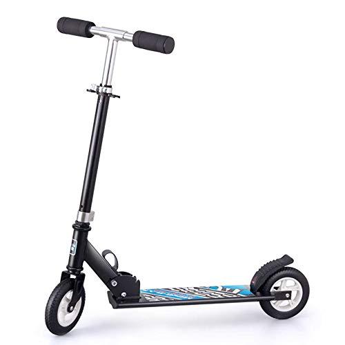 GAOPANG Patinete Scooter para Adolescentes Patinete de 2 Ruedas con Manillar Ajustable con Barra en T - Patinete Plegable para Adultos con Cubierta Antideslizante de aleación