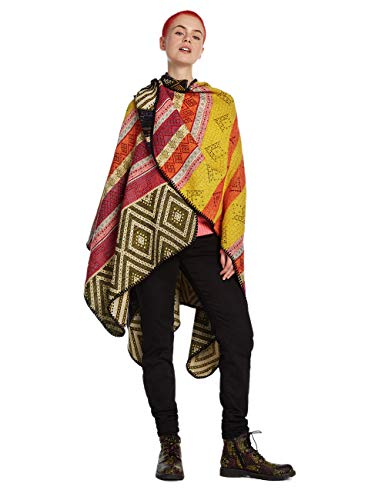 Desigual poncho Mantella Scialle Donna Ethnic 19waiw09 1008
