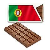 12 kleine Tafeln Schokolade - Fanartikel Süßigkeiten - Große Auswahl Länder, Nationen, Fahnen - Vollmilch (Portugal)
