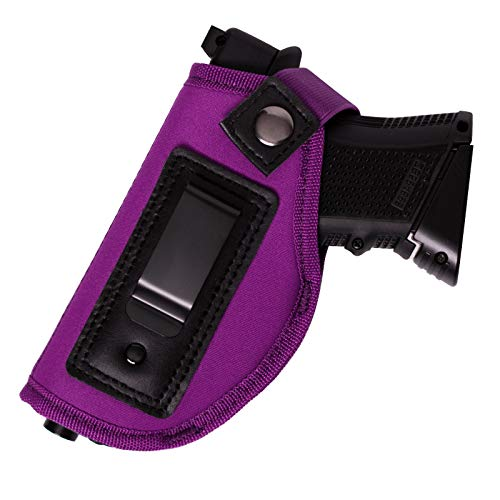 POYOLEE Gun Holster for Women Concealed Carry Holster for Pistols Universal IWB Holster Fits Glock 19 26 43 Springfield XD XDS Sig Sauer P238 P320 P365 Ruger LC9 & All Similar Handguns (Purple)