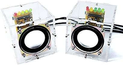 Gikfun Mini Electronic Transparent Stereo Speaker Box DIY Kit Sound Amplifier for Arduino EK1831