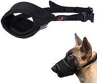 犬用銃口犬用銃口中型犬用銃口大型犬用銃口ペット用銃口犬用銃口犬の銃口を食べないようにする小さな灰色のm-ブラック_中