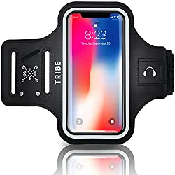 TRIBE Water Resistant Cell Phone Armband, Best Safety Gear for Runners, Safety Equipment for Runners, Running Safety Equipment, Running Safety Gear