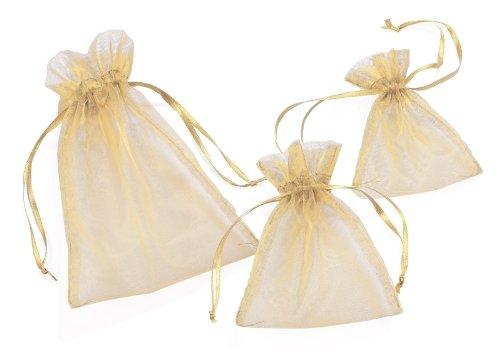 Organza-Säckchen, creme, 13 x 10 cm, 12er-Pack
