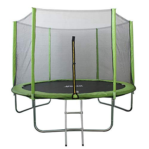 North Gear 10ft Trampoline Set with Safety Enclosure and Ladder