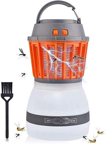 A-Generic Lampe Anti-Moustique Camping Lanterne Tente Lumière Portable Étanche 2 en 1USB Rechargeable Randonnée Pêche