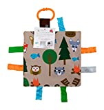 Baby Sensory Crinkle & Teething Square Lovey Toy with Closed Ribbon Tags for Increased Stimulation: 8'X8'  (Forest Animals)