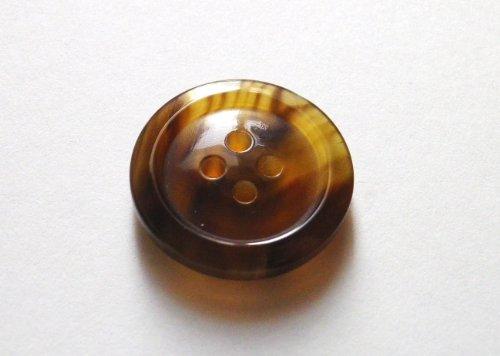 本水牛ボタン オリジナル型��1024 茶色  18mm 全サイズを網羅