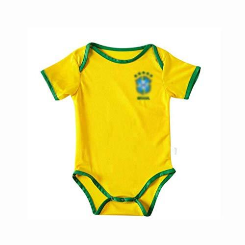 SUNY Fußball Trikot Baby Body Neuzugang, 20/21 Home/Away Game Baby Einteiliges Fußballtrikot Kindergrößen,Gelb,9 Yards