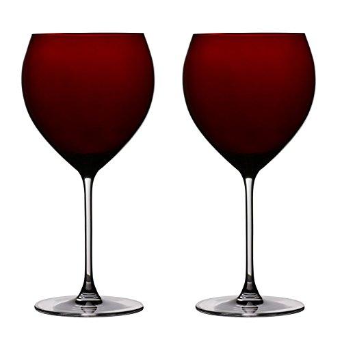 Ella Sabatini Rosso Rot Copa Gin & Tonic Glas 24floz Set von 2| G & T Collins Gläser