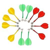 Materiale: plastica + magnete; Dimensione: 8.3x3cm / 3.2x1.2inches Tre colori disponibili, rosso, giallo, verde. Più persone possono competere insieme Il magnete è molto potente e consente alle freccette di attaccarsi quando colpiscono la tavola o qu...