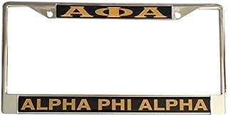 Alpha Phi Alpha Fraternity Metal License Plate Frame For Front Back of Car