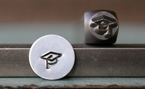 6mm Graduation Cap Metal Punch Design Jewelry Stamp