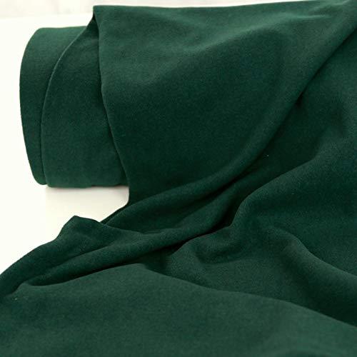 50cm TOLKO Kaschmir Winter Wollstoff/Mantelstoff   Flauschig weich warm   1,5mm dick   Schweres Wolltuch für Mantel Jacke Sakko   Meterware zum Nähen Dekorieren 150cm breit (Dunkel-Grün)