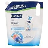 Mantovani - Jabón líquido neutro, formato ecorecarga, piel sensible, talco y flores blancas - 750 ml