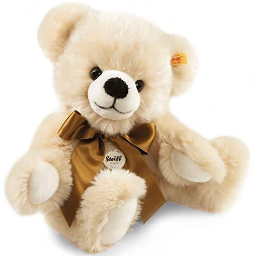 Steiff Bobby Schlenker-Teddybär - 40 cm - Teddybär mit Schleife - Kuscheltier für Kinder - weich & waschbar - Creme (013478)