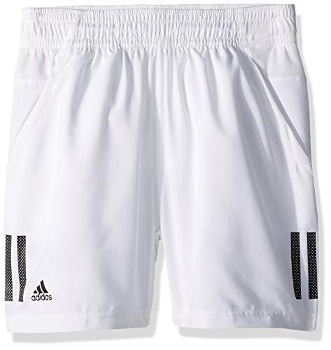adidas Juniors 3 Stripes Club Tennis Shorts WhiteBlack X Small