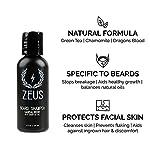 ZEUS Beard Shampoo, Beard Conditioner, and Beard Oil Sampler Set - SANDALWOOD 3