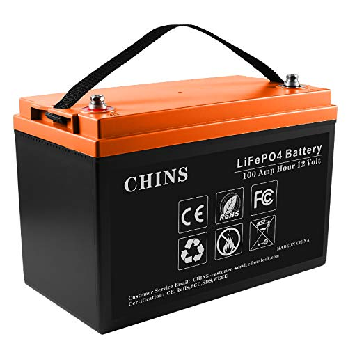 12V 100Ah LiFePO4 Deep Cycle Battery, Built-in 100A BMS, 2000-5000 Cycles, Each battery Can Support 1280W Power Output, Perfect for RV, Caravan, Solar, Marine, Home Storage and Off-Grid