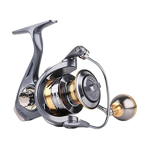 BONSPLANPT Ar Metal Fishing Equipment Micro - Nobe Pesca Pesca Rueda Spin Wheel LíNea De Pesca-Plata_Ar2000