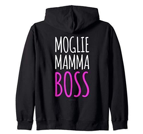 Regalo Mamma Moglie Boss Felpe Donna Con Zip E Cappuccio Felpa con Cappuccio