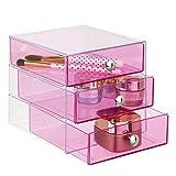 iDesign Plastic 3-Drawer Jewelry Box, Compact Storage...