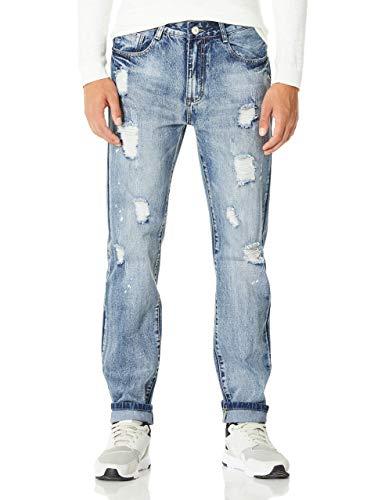 Demon&Hunter 802R Series Men's Ripped Straight Leg Regular Fit Jeans 802R1(34)