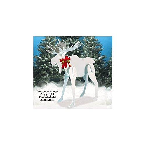 Large Christmas Moose Pattern