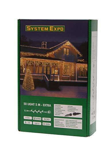 Star Trading System Expo lightchain Extra - Iluminación Decorativa (Negro, Transparente, IP44, Interior)