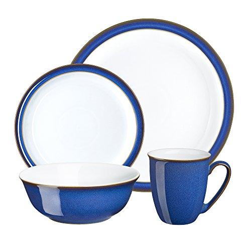Denby Imperial Blue - Vajilla (16 Piezas), Color Azul