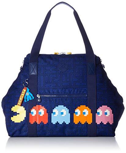 Kipling Damen Art Stofftasche, Pac Man Good (Azul), M