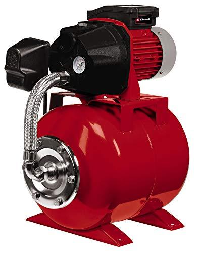 Einhell Hauswasserwerk GC-WW 6036 (600 W, max. Förderdruck 4 bar, Saughöhe max. 8 m, 3.600 l/h, 20 L Behälter, integriertes Manometer, Wassereinfüll- und Ablassschraube)