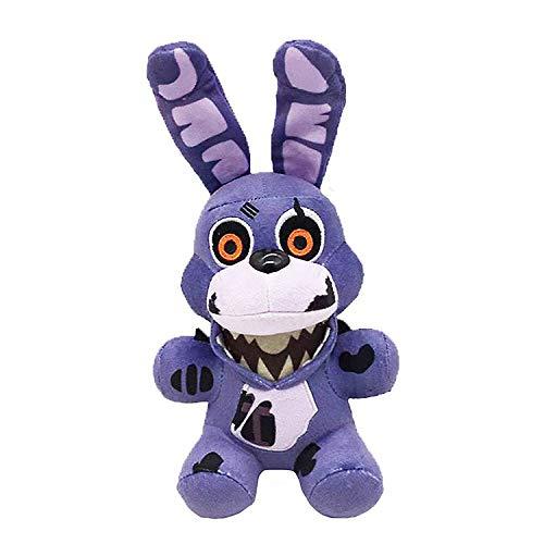 """FNAF Plushies - All Characters(7"""") - (Twisted Ones Bonnie) - Five Nights Freddy's Plush: Springtrap,Rabbit,Foxy, Bonnie,Marionette, Chica Plush - Freddy Plush - FNAF Plush- Gifts for FNAF Fans"""