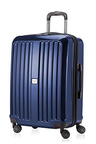 HAUPTSTADTKOFFER - X-Berg - Hartschalenkoffer Koffer Trolley Rollkoffer, 65 cm, 90 Liter, TSA, Dunkelblau Glanz