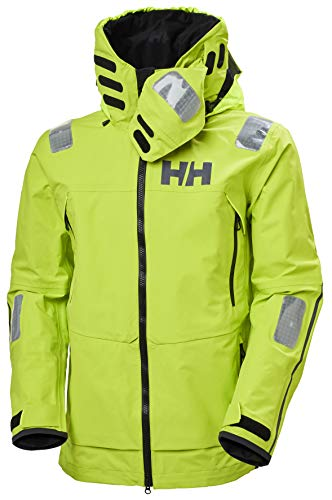 Helly-Hansen Mens Aegir Race Sailing Jacket, 402 Azid Lime, Large