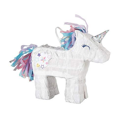 Unique Party - Mini Unicornio Piñata Favor Decoración (66263)