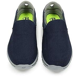 Skechers Performance Men's Go Walk 3 Slip-On Walking Shoe, Navy/Gray, 10.5 M US