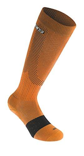 Alpinestars Compression Socks, Orange Black, Large