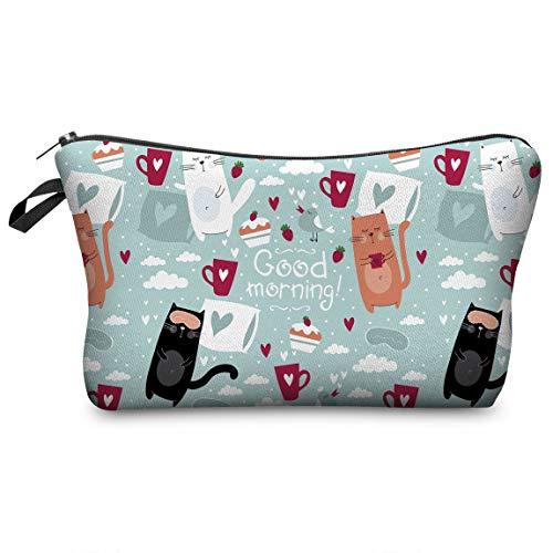 SeniorMar-UK Reißverschluss Schminktasche Frauen Kosmetiktaschen Organizer Box Damen Handtasche Polyester Reisetaschen Waschtasche