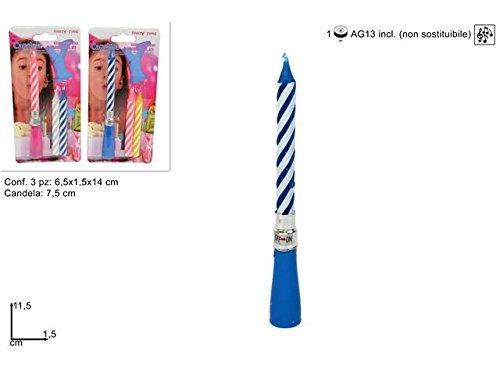 DueSSe- Vela musical cumpleaños para tarta, multicolor, 2S_CM