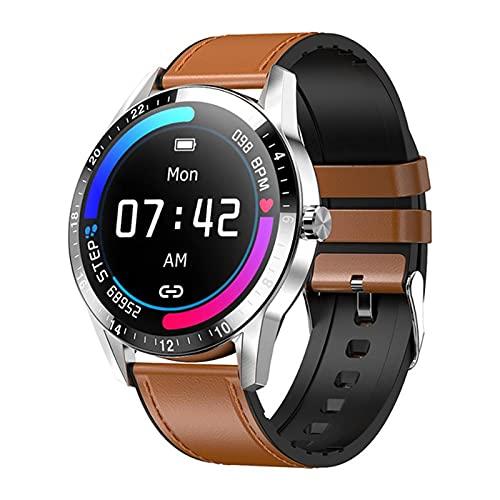 ZYDZ G20 Smart Watch 1.3 Círculo Completo HD Big Screen Bluetooth Llamada De Bluetooth para iOS Android Smartwatch Hombre Y Reloj De Mujeres Deportes Aptitud Pulsera,A