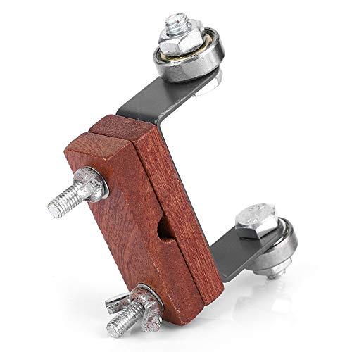 Afilador de portacuchillas, afilador de cuchillos de metal + madera, abrazadera, afilador de cuchillos de piedra de afilar para cincel de cuchillos