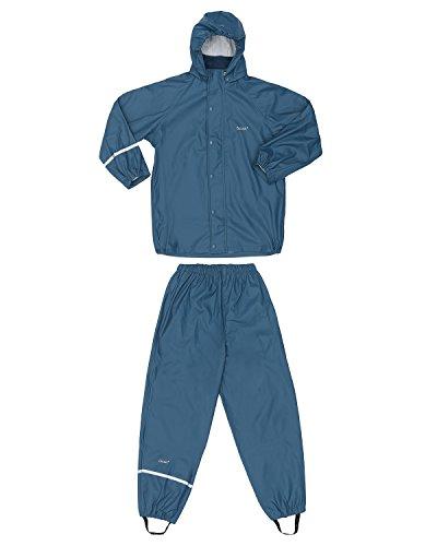 CeLaVi Zweiteiliger Regenanzug in Vielen Farben Veste Imperméable, Bleu (Blau), 95 (Taille Fabricant: 80) Bébé garçon
