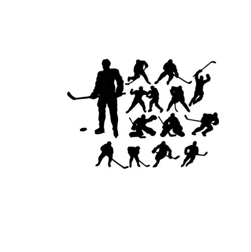 Wandtattoo Eishockey Charakter 56x78cm Vinylwandgemälde, Plakat, Haupttapetenschlafzimmerwohnzimmer-wohngestaltung