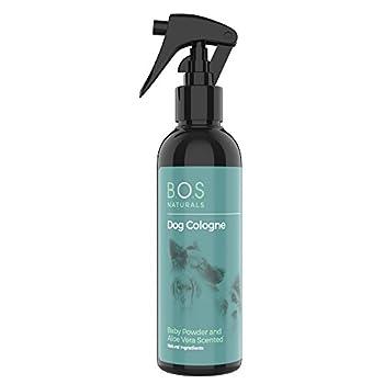 Eau de Cologne pour chien en poudre non testée, sans cruauté envers les animaux, 250 ml, ingrédients naturels contenant de l'aloe vera fièrement fabriqué au Royaume-Uni
